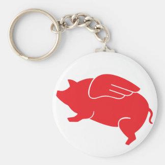 Chaveiro 🐷 do porco do vôo