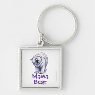 Chaveiro do quadrado do urso polar do Mama