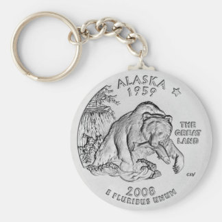 Chaveiro do quarto do estado de Alaska