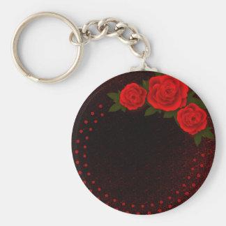 Chaveiro do querido dos namorados da rosa vermelha