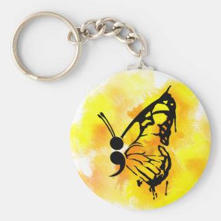 Chaveiro do semicolon da borboleta