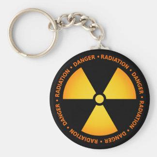 Chaveiro do símbolo da radiação