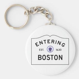Chaveiro do sinal de estrada de Boston