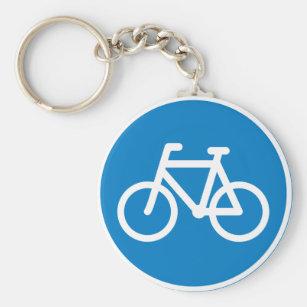 Chaveiro do sinal de estrada do ciclismo
