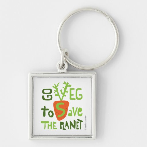 Chaveiro do slogan da rotulação da mão do vegetari