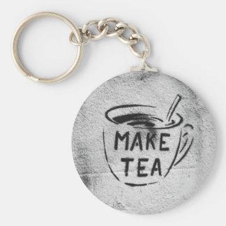 chaveiro do slogan do chá da arte do estêncil dos