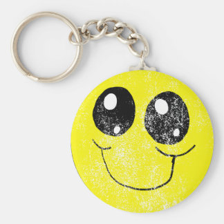 Chaveiro do smiley face do vintage