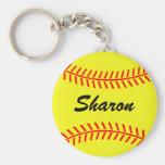 Chaveiro do softball de Personalizable