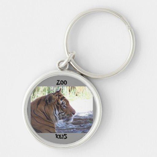 Chaveiro do tigre do jardim zoológico para chaves
