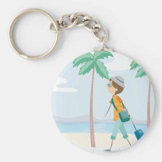 Chaveiro do turista da praia