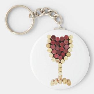 Chaveiro do vidro de vinho da cortiça