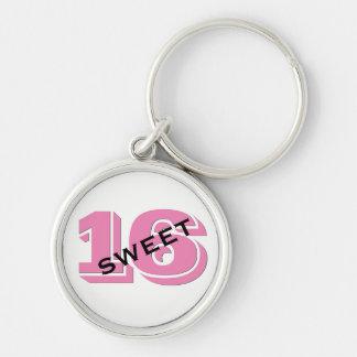 Chaveiro Doce doce cor-de-rosa dezesseis de 16 aniversários