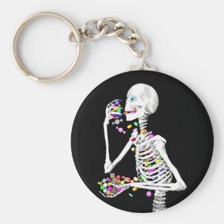 Chaveiro Doces de esqueleto comer o Dia das Bruxas