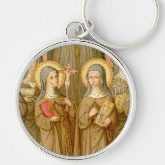 Chaveiro Dois santos pobres de Clare (detalhe; SAU 027)