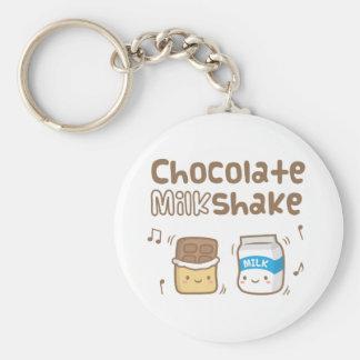 Chaveiro Doodle bonito do batido do chocolate para ela