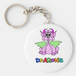 Chaveiro Dragão cor-de-rosa