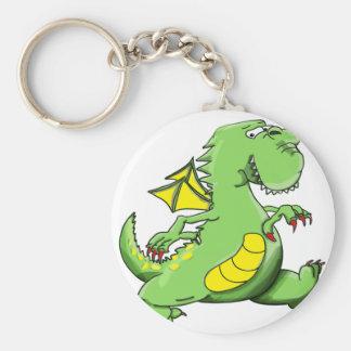 Chaveiro Dragão verde dos desenhos animados que anda em