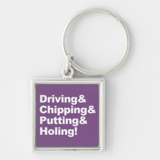Chaveiro Driving&Chipping&Putting&Holing (branco)