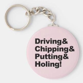 Chaveiro Driving&Chipping&Putting&Holing (preto)