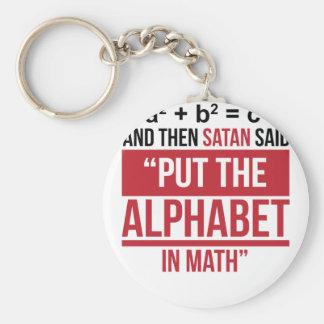 """Chaveiro E então a satã disse que """"pnha o alfabeto na"""