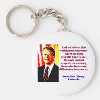 Chaveiro E nós acreditamos essa paz de mundo - Jimmy Carter