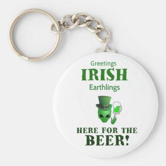 Chaveiro Earthlings do irlandês dos cumprimentos! Aqui para