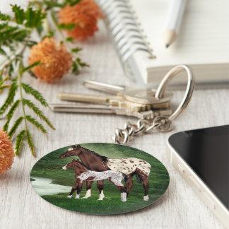 Chaveiro Égua e potro do cavalo do Appaloosa