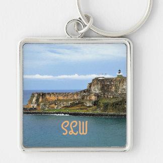 Chaveiro EL Morro que guarda a baía de San Juan Monogrammed