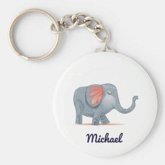 Chaveiro Elefante adorável bonito cor feita sob encomenda