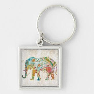 Chaveiro Elefante de Boho Paisley II