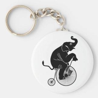 Chaveiro Elefante que monta uma bicicleta