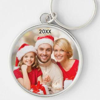 Chaveiro elegante do Natal da foto da família