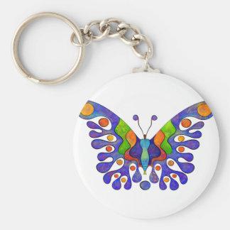 Chaveiro Elenissina - borboleta colorida
