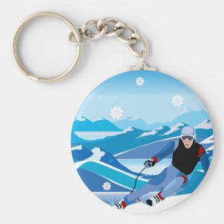 Chaveiro em declive do esquiador