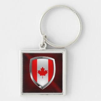 Chaveiro Emblema de Canadá Mettalic