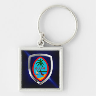 Chaveiro Emblema de Guam Mettalic
