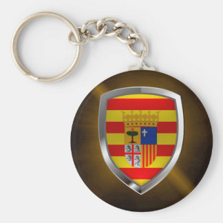 Chaveiro Emblema metálico de Aragón