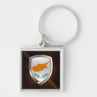 Chaveiro Emblema metálico de Chipre