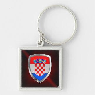 Chaveiro Emblema metálico de Croatia