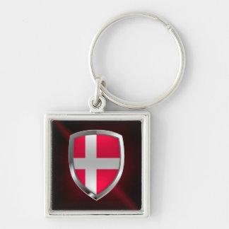 Chaveiro Emblema metálico de Dinamarca