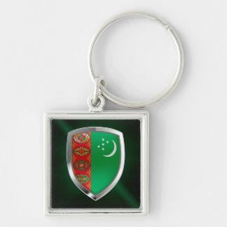 Chaveiro Emblema metálico de Turkmenistan