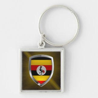 Chaveiro Emblema metálico de Uganda