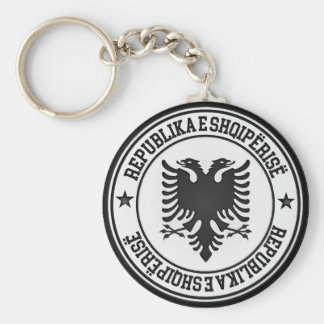Chaveiro Emblema redondo de Albânia