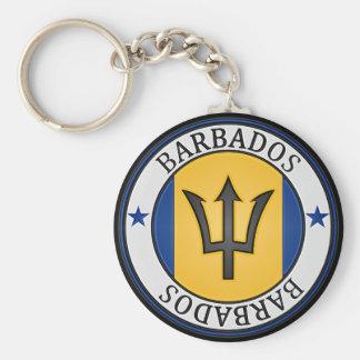 Chaveiro Emblema redondo de Barbados