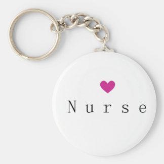 Chaveiro Enfermeira com coração cor-de-rosa