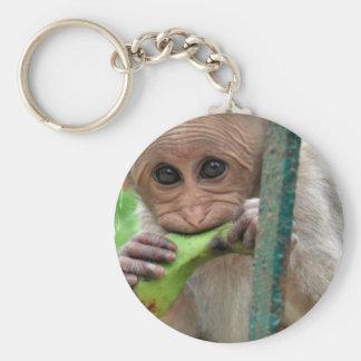 Chaveiro engraçado da imagem do macaco