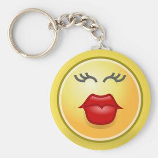 Chaveiro engraçado do botão dos lábios de Emoji
