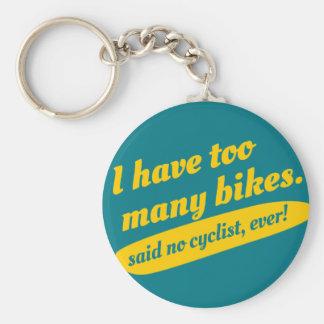 Chaveiro engraçado do ciclismo. Presente da
