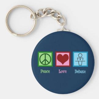 Chaveiro Equipe do debate do amor da paz