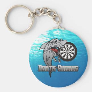 Chaveiro Equipe dos dardos dos tubarões dos dardos